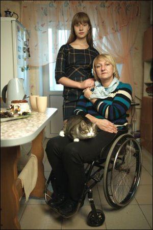 Татьяна Кришталь с дочерью, 2014 год