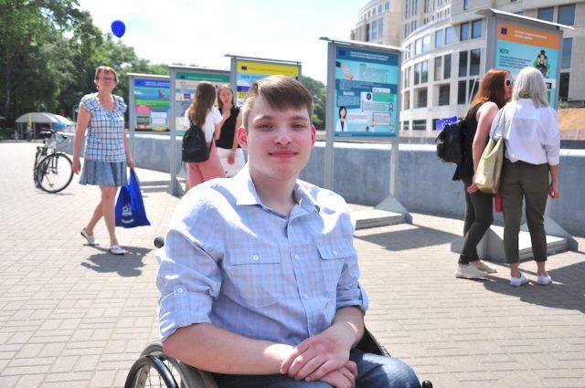 Герой проекта «Новополоцк – от инклюзивной школы до инклюзивному городу» Даниил Совенок