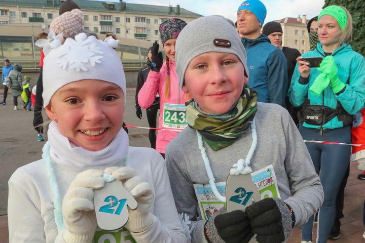 В Минске состоялось спортивно-благотворительное мероприятие Варежковый полумарафон
