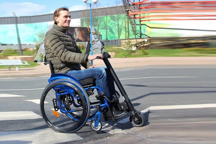 Электрическая приставка UNAWHEEL для инвалидной коляски