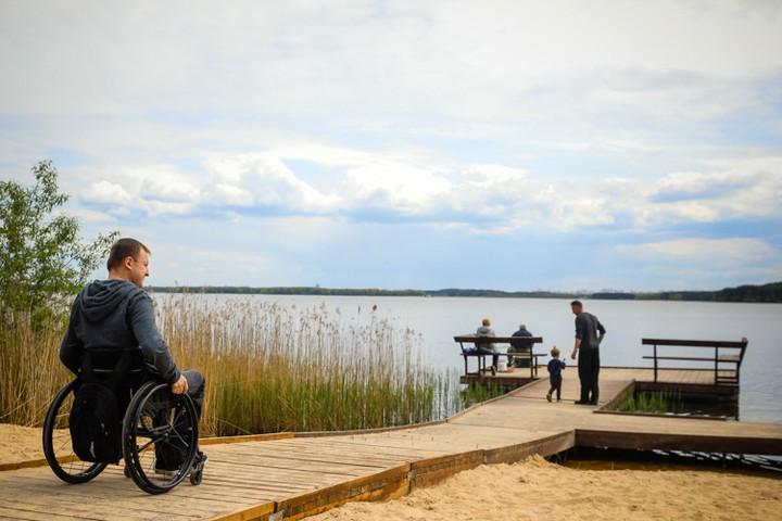 Инклюзивный пляж на Минского море