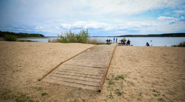 Инклюзивный пляж на Минском море