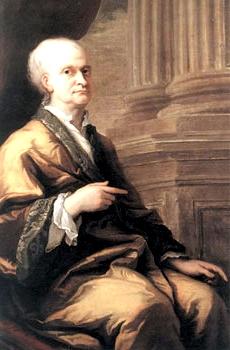 Художник Джеймс Торнхилл. Сэр Исаак Ньютон, 1709-1712