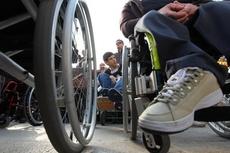 Группа инвалидов пыталась организовать мирный протест