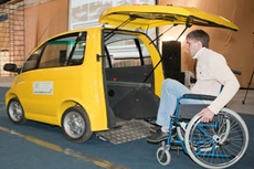 Специальный электромобиль для людей с особыми потребностями