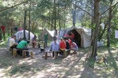 Молодежный палаточный лагерь для людей с ограниченными возможностями открылся в Мозырском районе